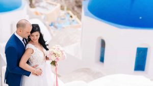 A luscious wedding overlooking the Caldera, in Santorini RPS EVENTS 5