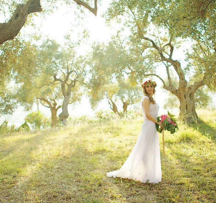 A wedding of two artists in Skiathos island, Greece