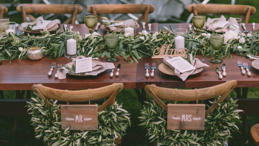Enchanting olive green wedding