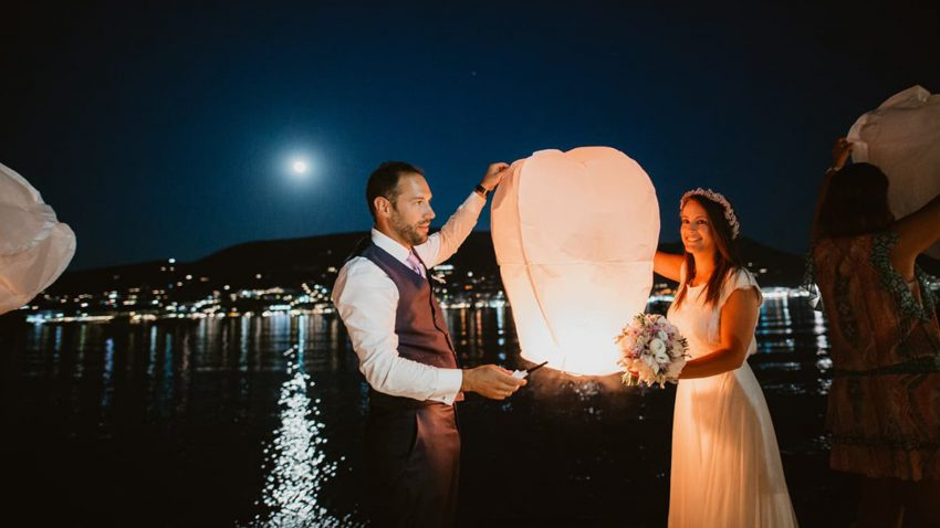 A romantic wedding in Paros island