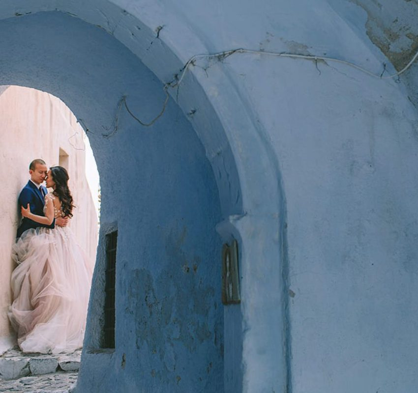 A whimsical fall wedding in Santorini