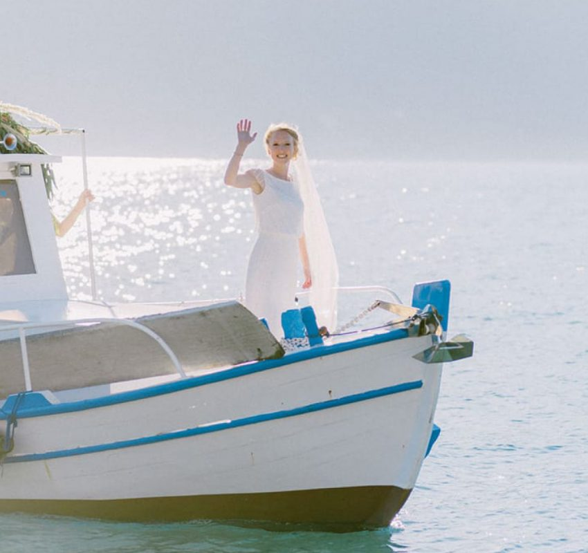 Elegant village wedding at Meganisi island, Greece