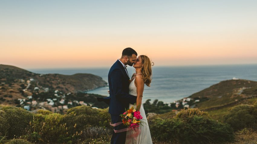 Colorful Island wedding in Cyclades