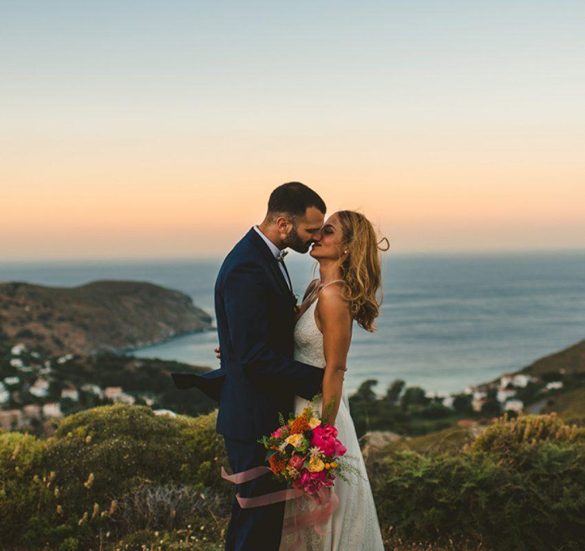 Colorful Island wedding in Cyclades