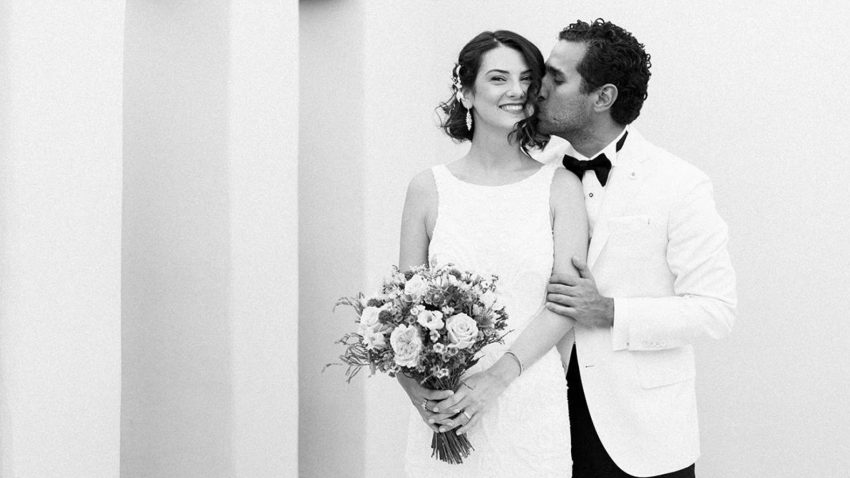 Eclectic and colorful wedding in Greece