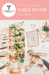 Copper-Marble-Table-Decor-by-Rock-Paper-Scissors-Events 5