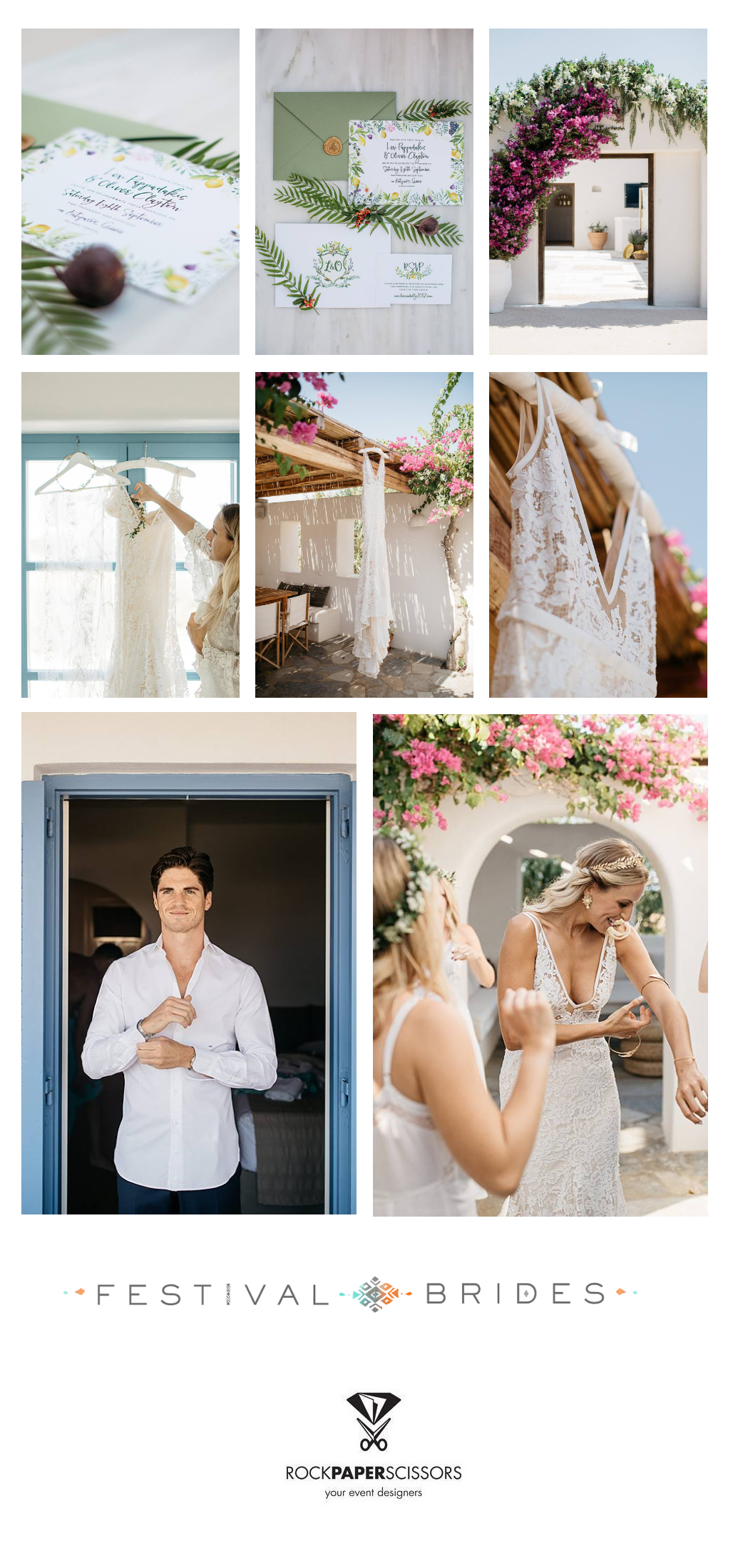 Elegant Greek Destination Wedding Featured in Festival Brides