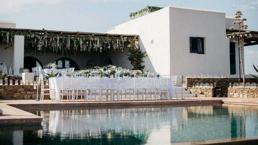 Elegant Greek Destination Wedding Featured in Festival Brides