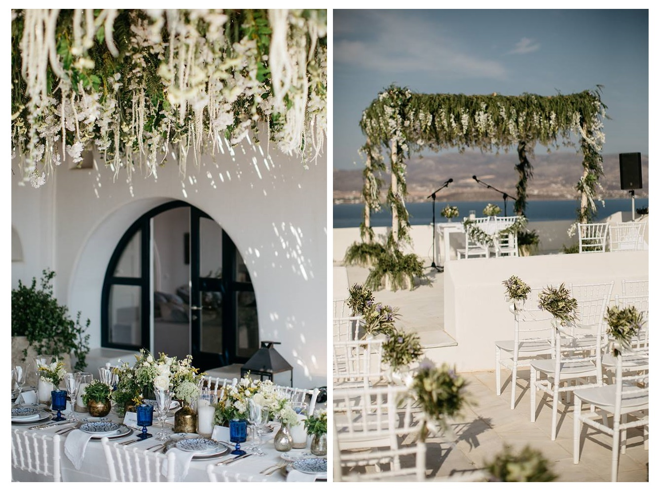 Elegant Greek folk wedding in Antiparos by Rock Paper Scissors Events