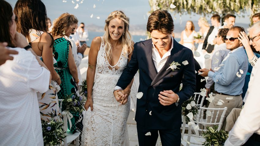 Elegant Greek folk wedding in Antiparos