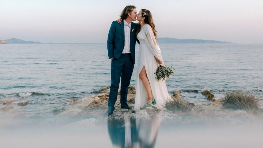 A destination olive and lavender wedding in Paros
