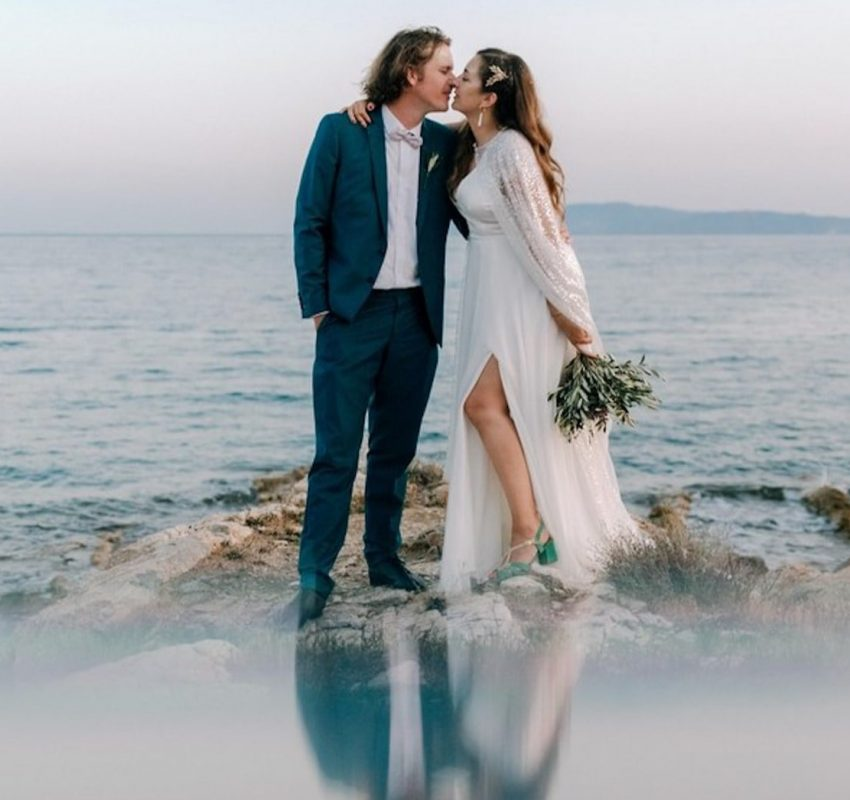A destination olive and lavender wedding in Paros
