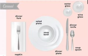 casual table setup infogram