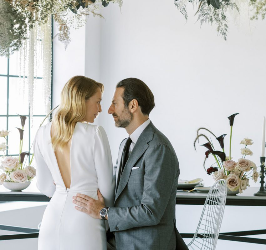 A modern engagement in downtown Athens